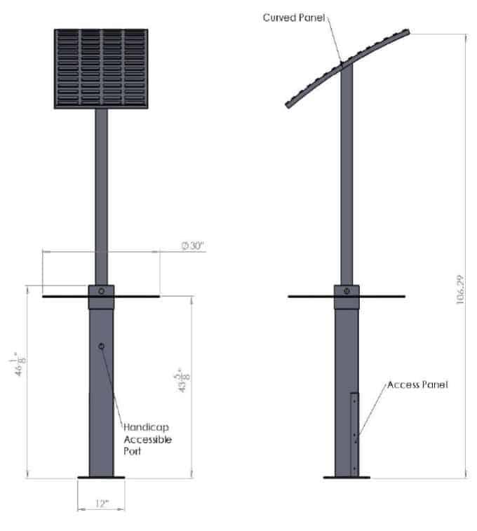 solar charging station detail