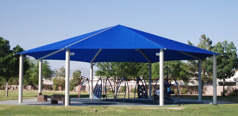 steel frame pavilion