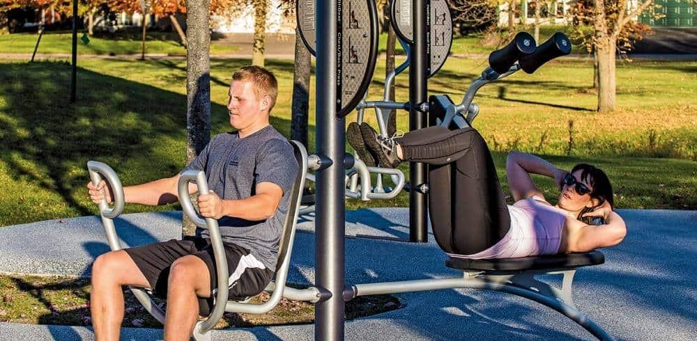 outdoors gym equipment