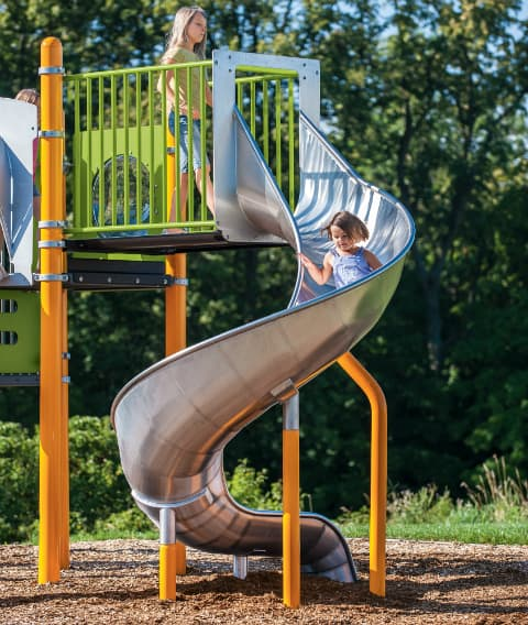 commercial playground slides