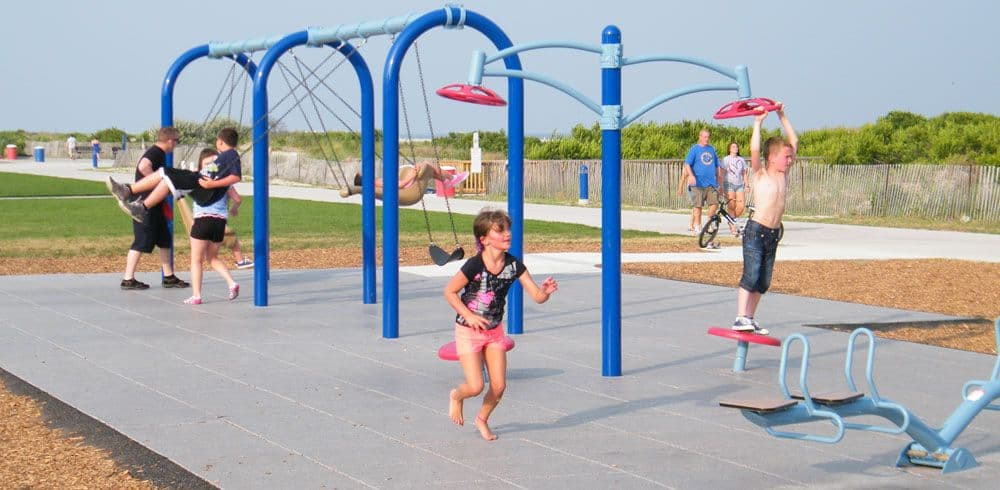 playground rubber surface