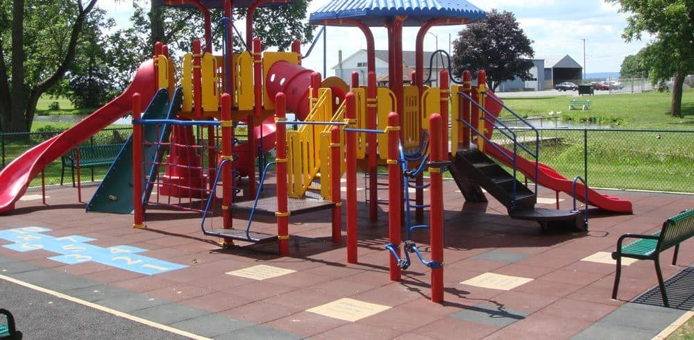 rubber for playgrounds