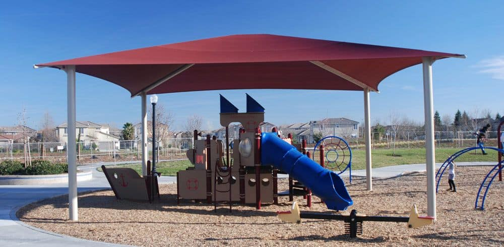Fabric Canopy Structures At Baseball : Sun shade commercial structure canopy general