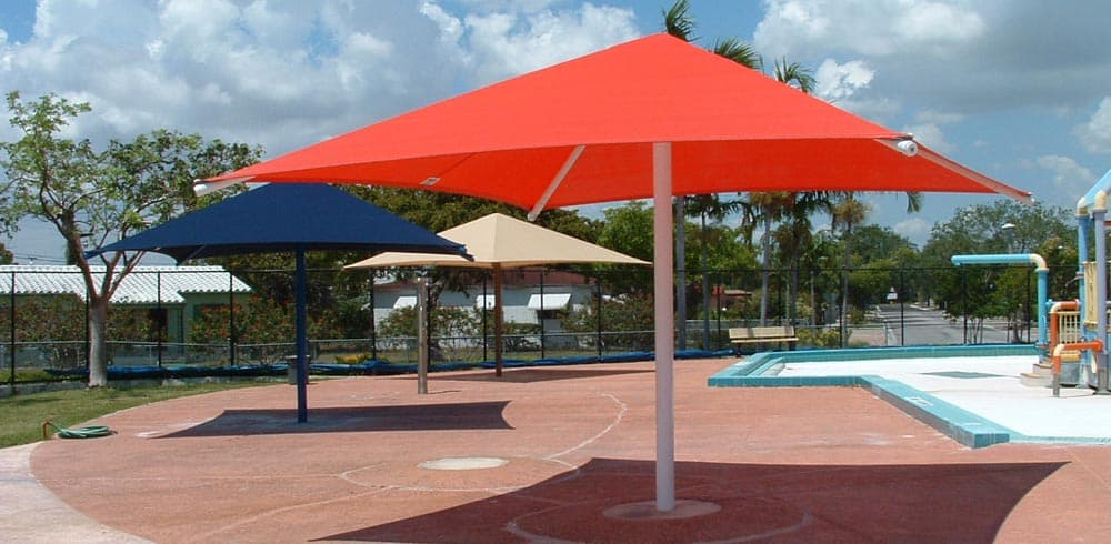 Fabric Shade Structures & Sun Shade Commercial Shade Structure Canopy u2013 General Recreation Inc