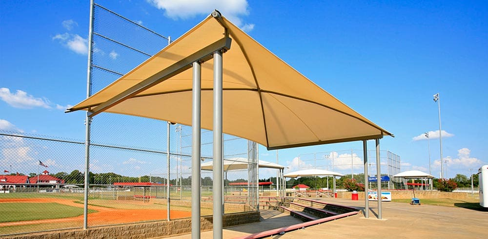 commercial sun shade canopy
