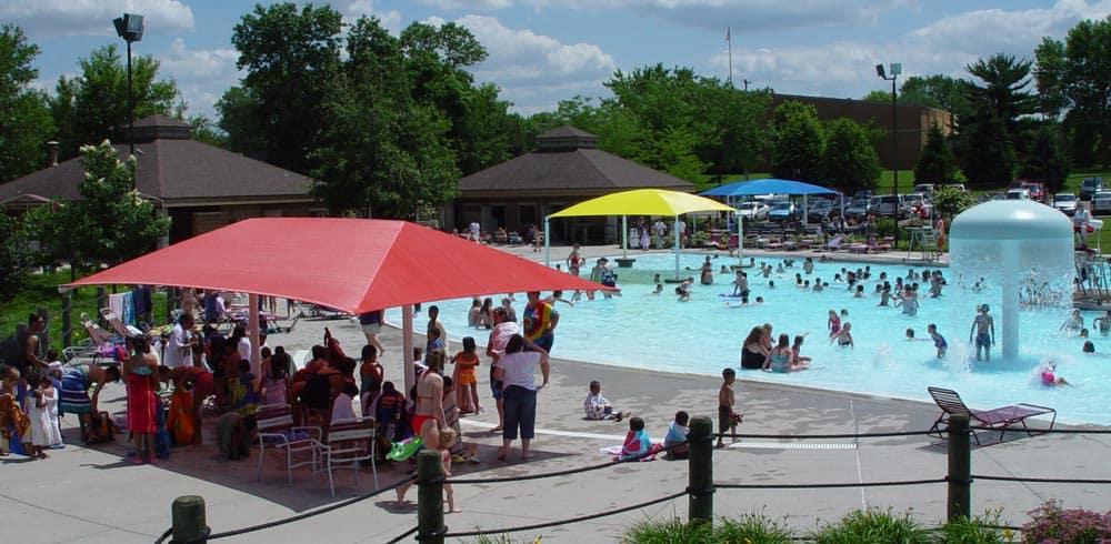 pool equipment sunshade