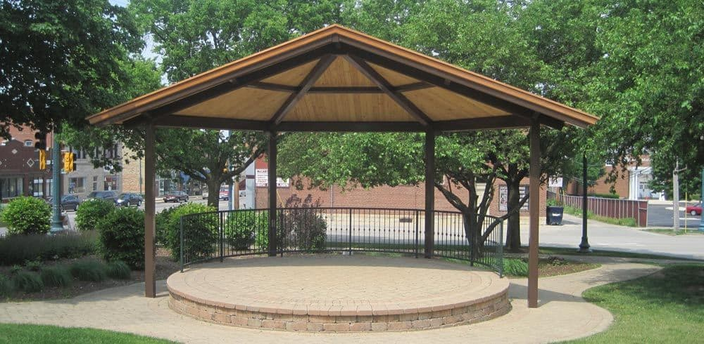 prefab picnic pavilions