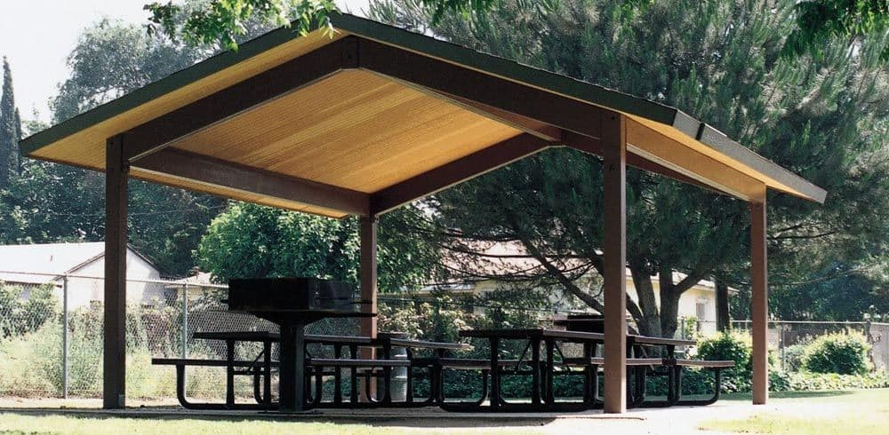 prefab picnic shelters