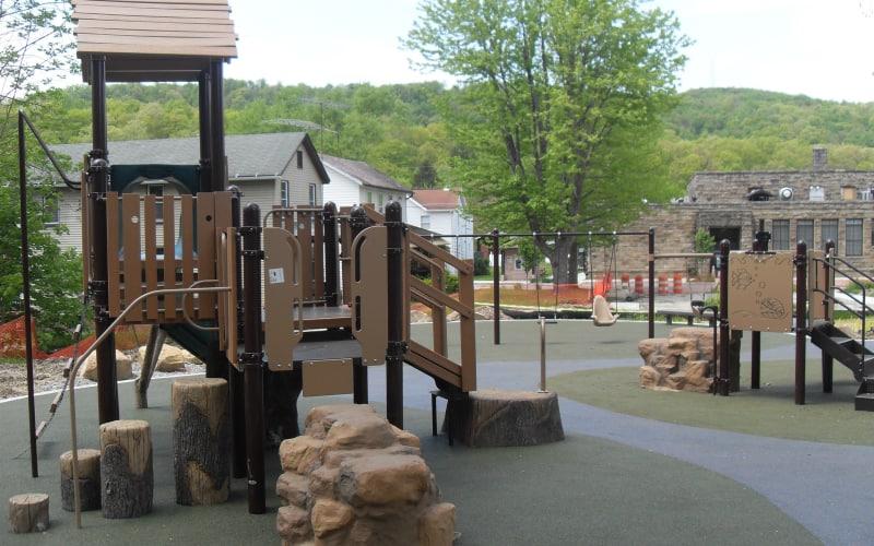 Stewart on the Green Playground