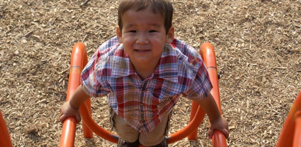 rubber mulch playground surface