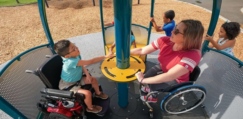 we go round playground equipment