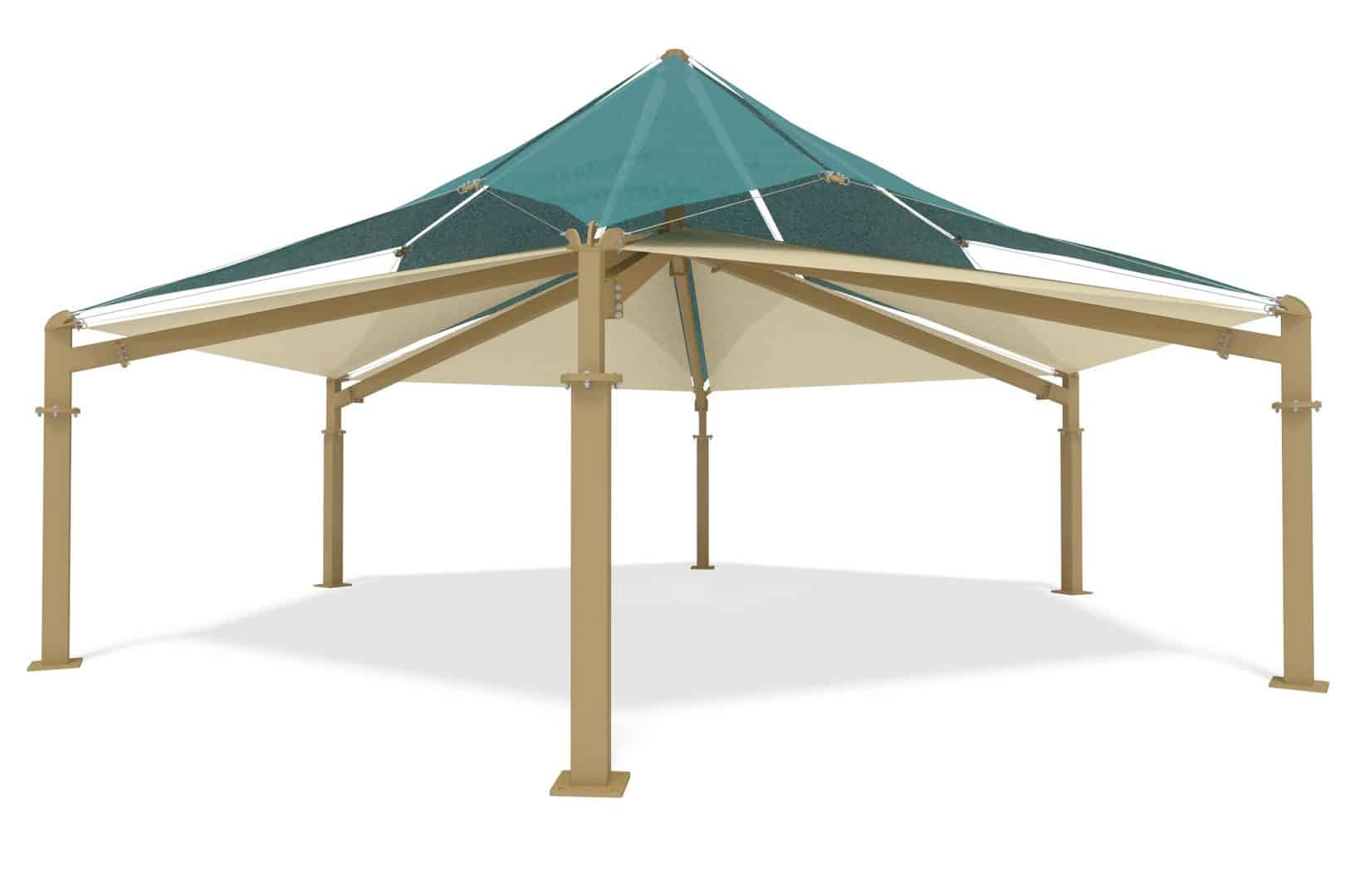 Skyways fabric shade structures general recreation inc for Shade structures