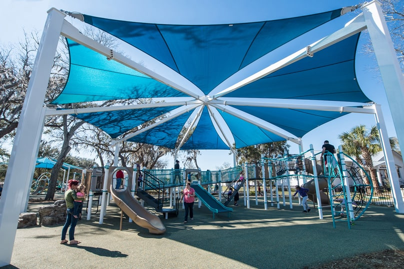 Fabric Canopy Structures At Baseball : Skyways fabric shade structures general recreation inc