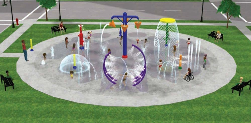Water park equipment water playground equipment spray for Pool equipment design