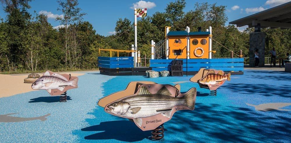 Custom themed playground equipment
