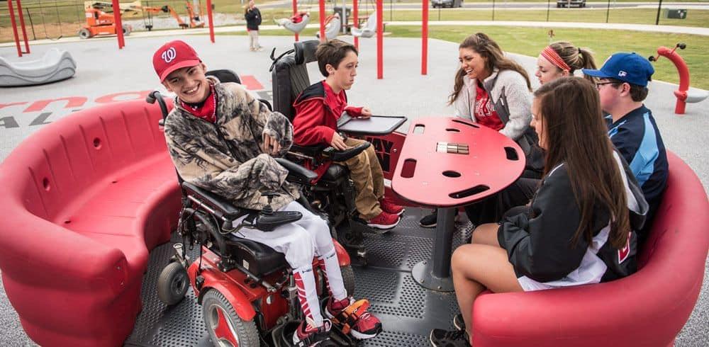 inclusive freestanding playground equipment