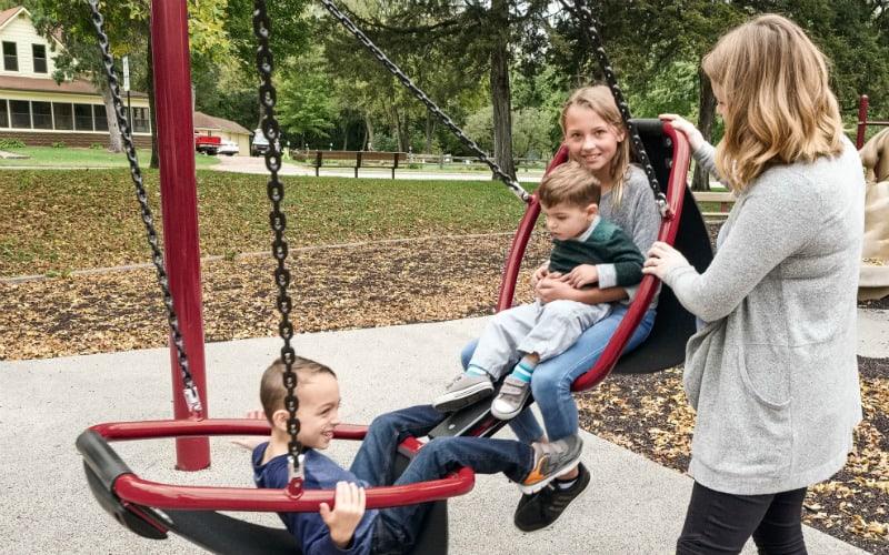 photo of friendship swing