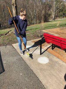 installing bench in north parkrk