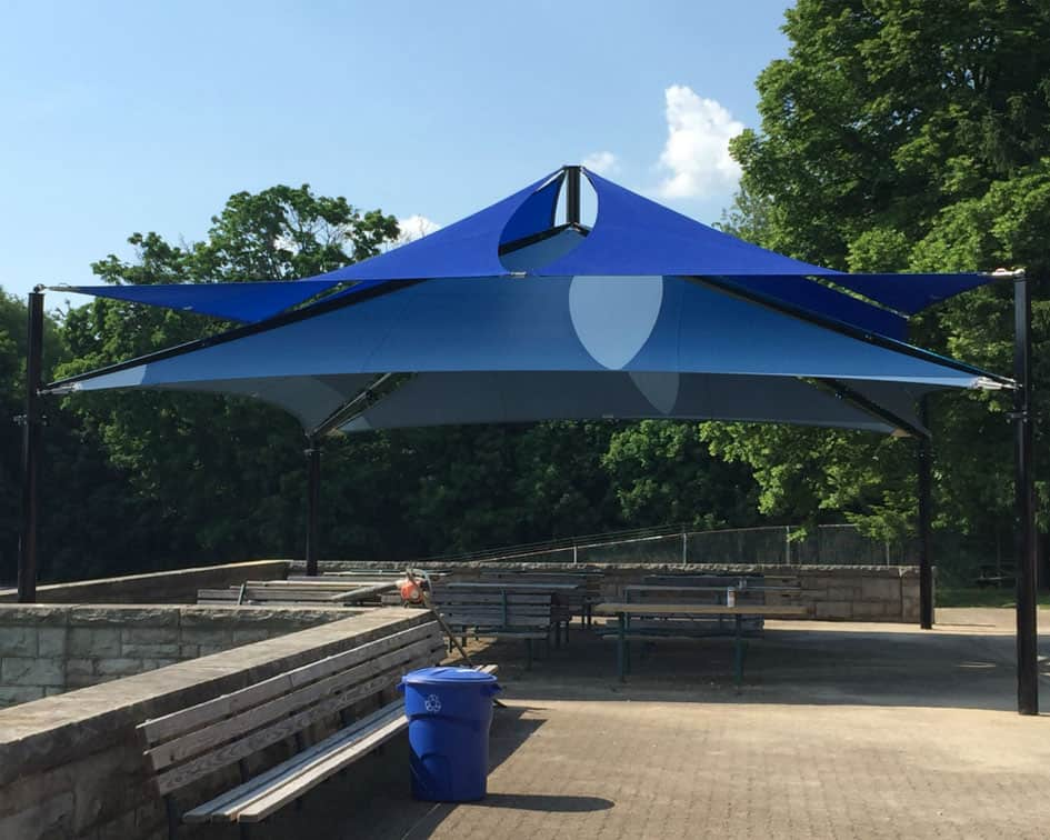 Pennsylvania Shade Structure Installation