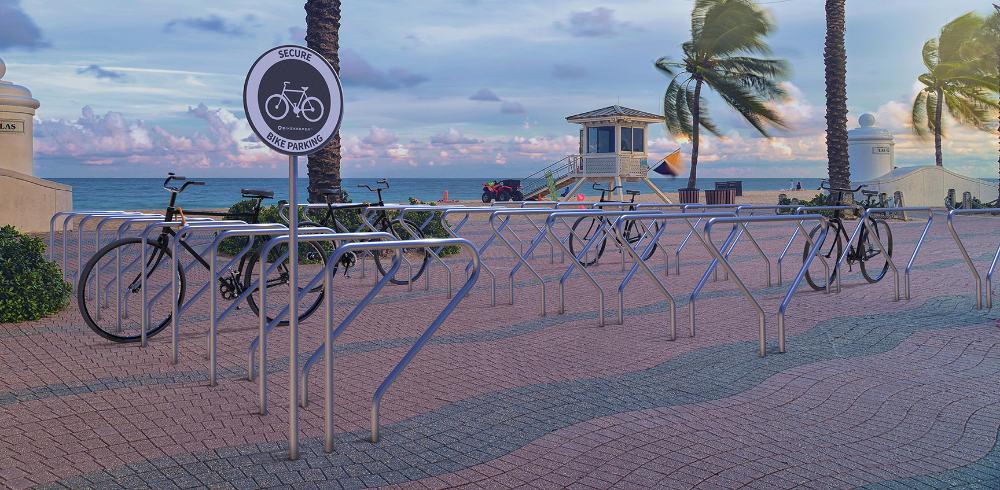 Ground base bike racks