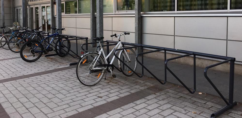 photo of bike racks